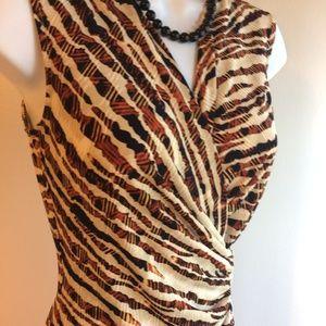 Anne Klein Stretch Sheath Ruched Dress Sz XS